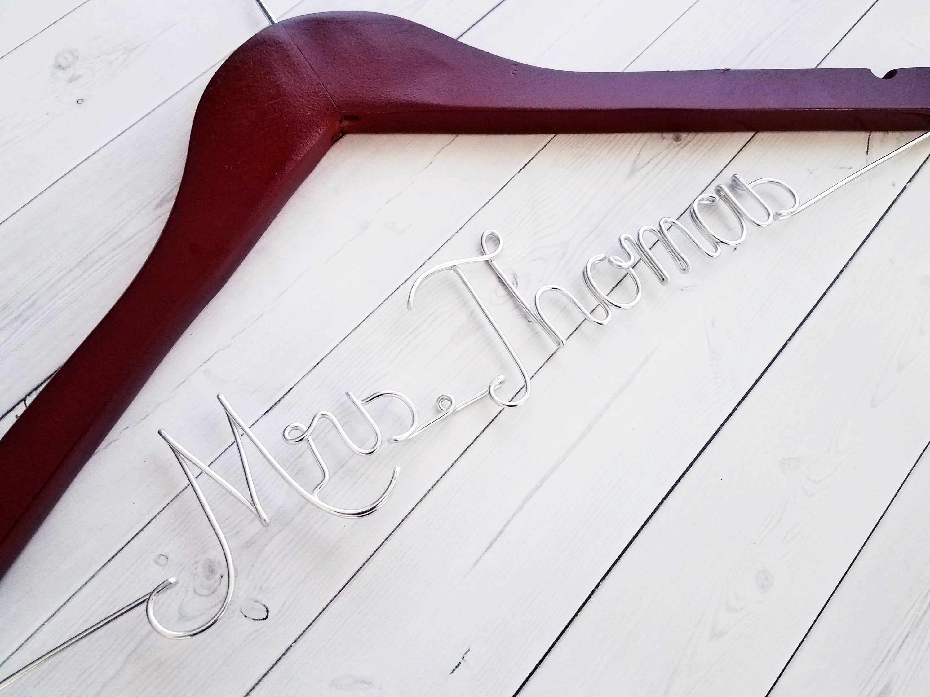 Name and Date Wedding Hanger