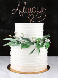 Always Wire Cake Topper