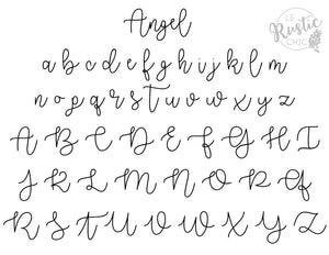 Angel Font Custom Wire Words