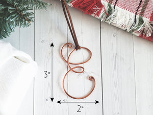 Custom Wire Initial Ornament S