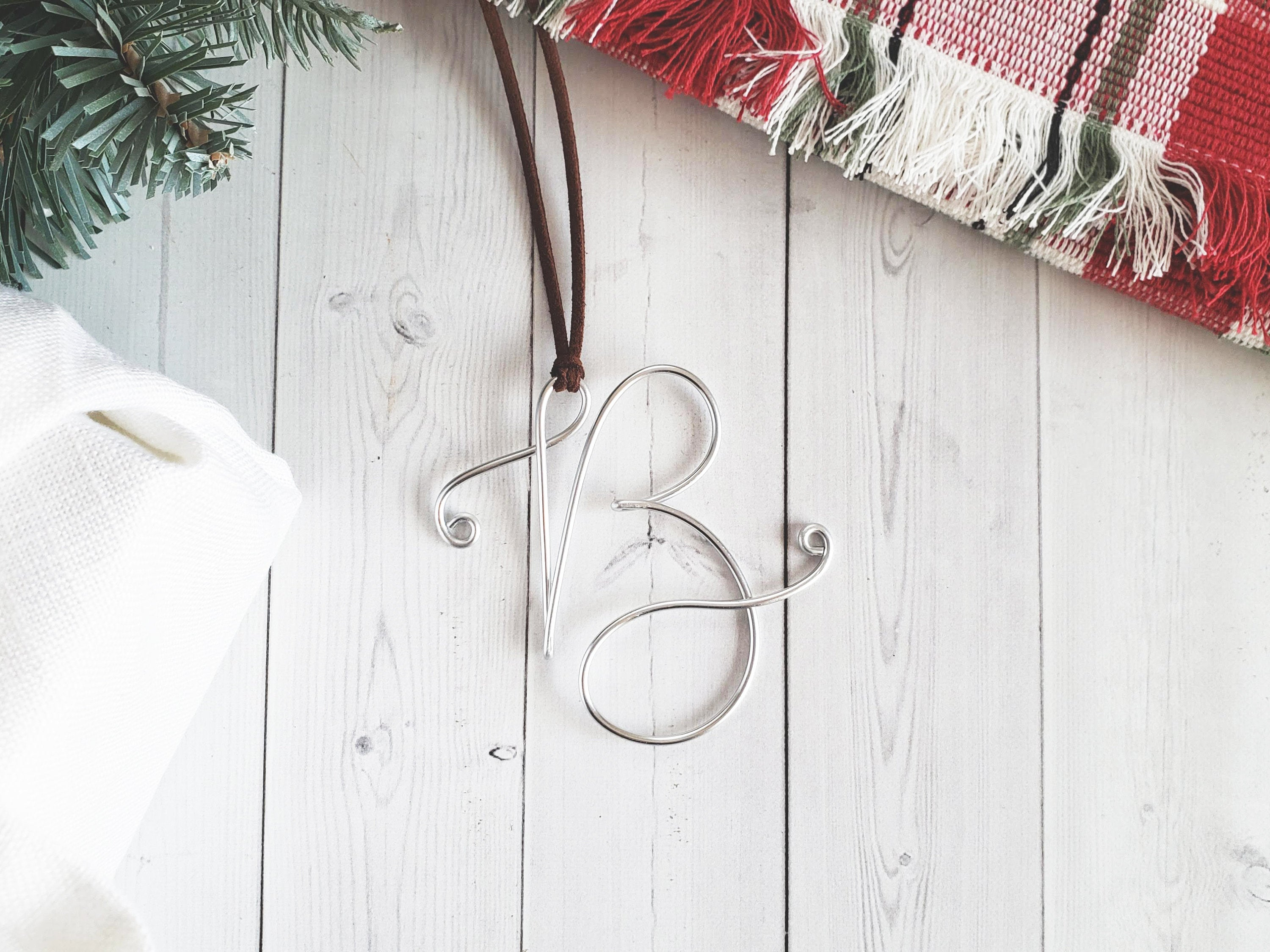 Custom Wire Initial Ornament B