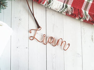 Custom Wire Name Stocking Tag (Liam)