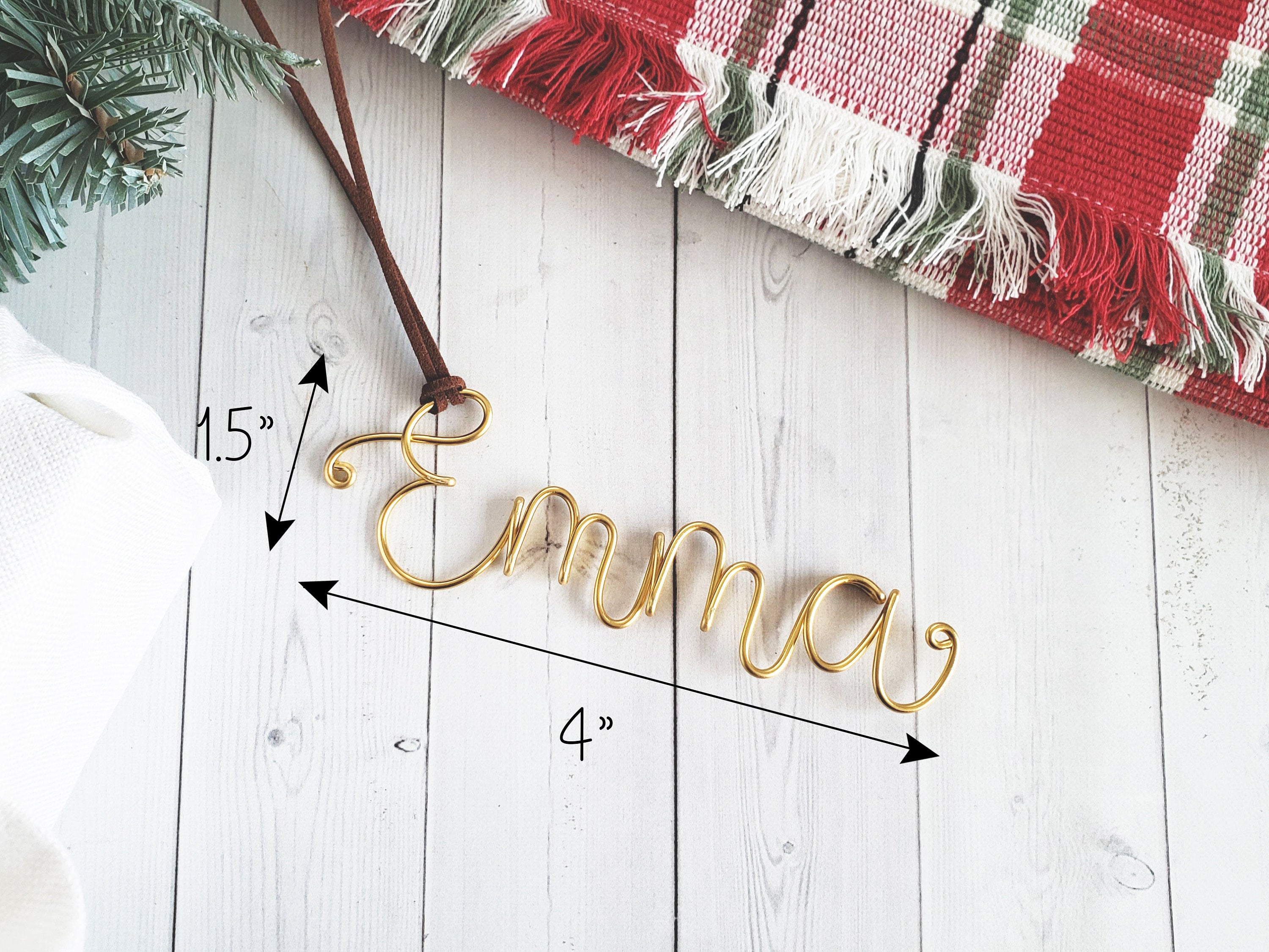 Custom Wire Name Ornament (Emma)