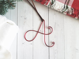 Custom Wire Initial Ornament A