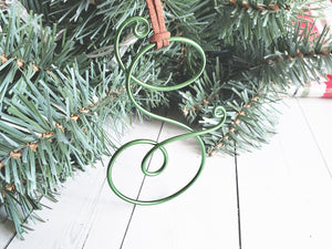 Custom Wire Initial Gift Tag S