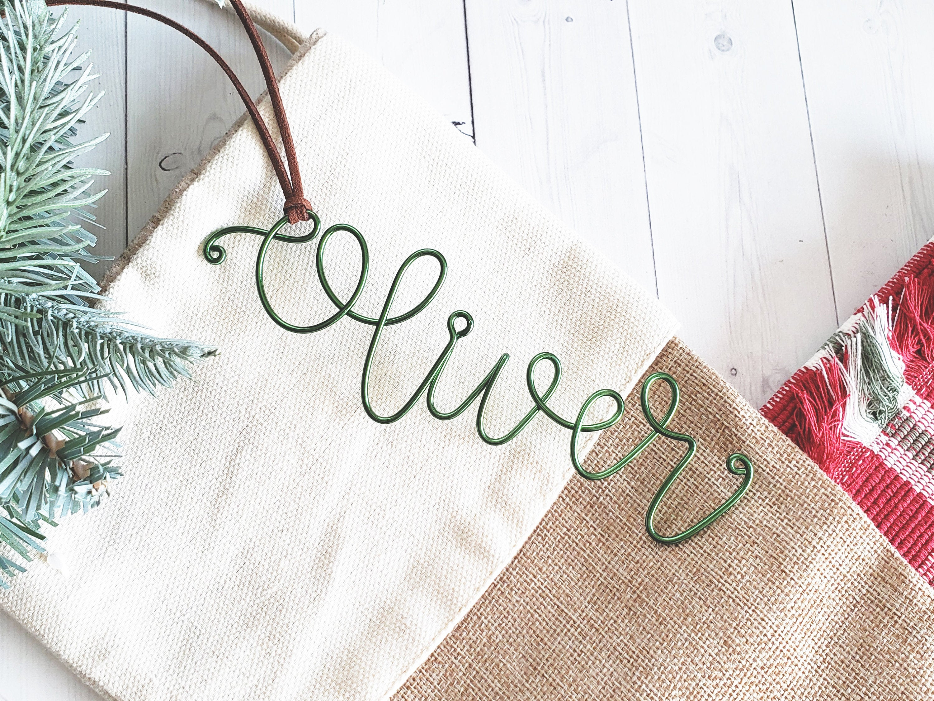 Custom Wire Name Gift Tag (Oliver)