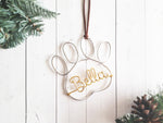 Load image into Gallery viewer, Custom Pet Paw Name Ornament