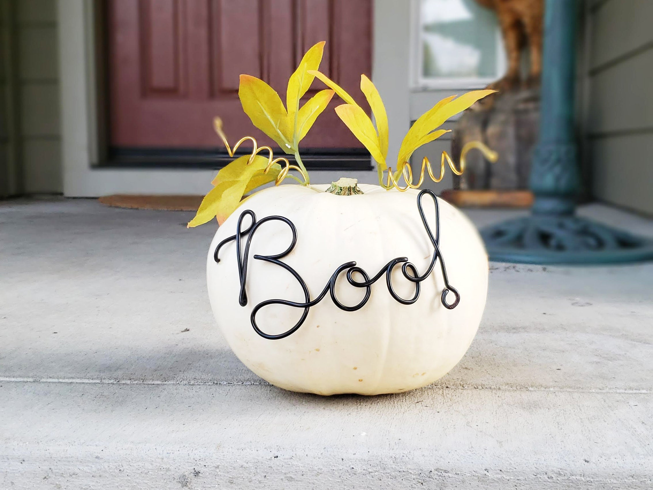Boo! Wire Word Pumpkin Decor