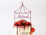 Load image into Gallery viewer, Circus Tent Wire Cake Topper