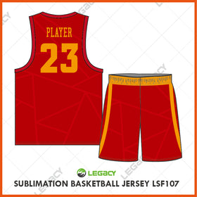 Sublimation Basketball Jersey LSB107