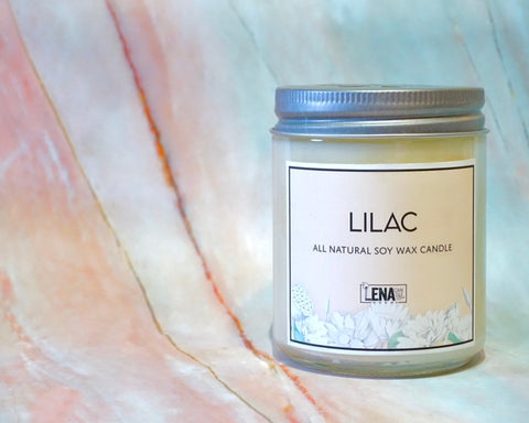Lilac Scented Soy Wax Candle