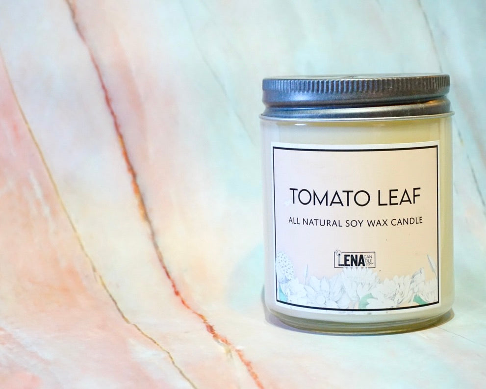 Tomato Leaf Scented Soy Wax Candle