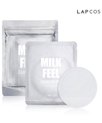LAPCOS 10 pack milk feel cleansing/exfoliating pad