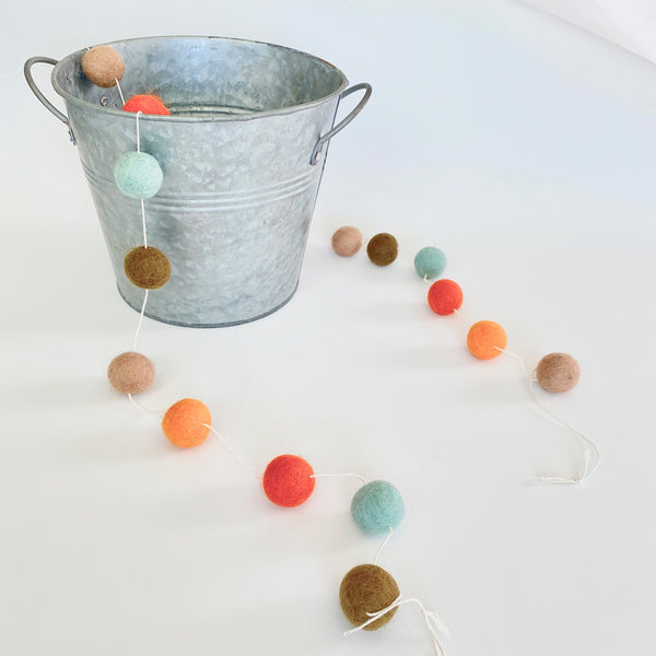 Woodland Wool Felt Ball Garland