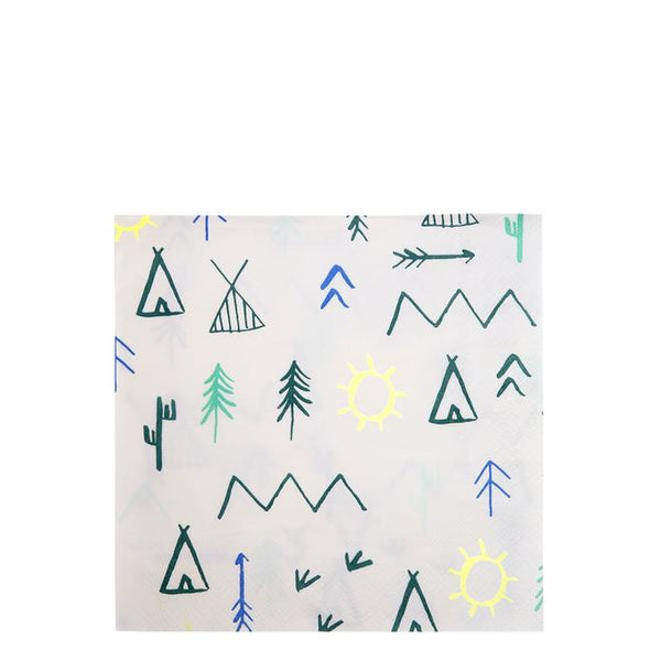 Let's Explore - Woodland Adventure Large Napkins