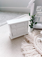 Wooden White Dresser Dollhouse Furniture 1/12 Scale