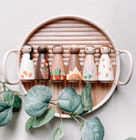 Spring Collection Hand Painted Wooden Peg Dolls