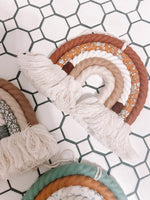 Macrame Rainbow Rust Brown Wall Hanging