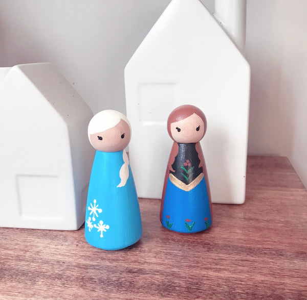 *PRE-ORDER* Princess Inspired Peg Dolls