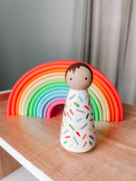 *Pre-Order* Rainbow Sprinkle Wooden Hand Painted Peg Dolls