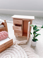 Wooden Armoire Dresser Dollhouse Furniture 1/12 Scale