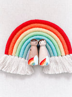 *Pre-Order* Rainbow Natural Wood Hand Painted Wooden Peg Doll
