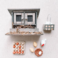 Doll House Chicken Coop Accessories 1:12 Scale