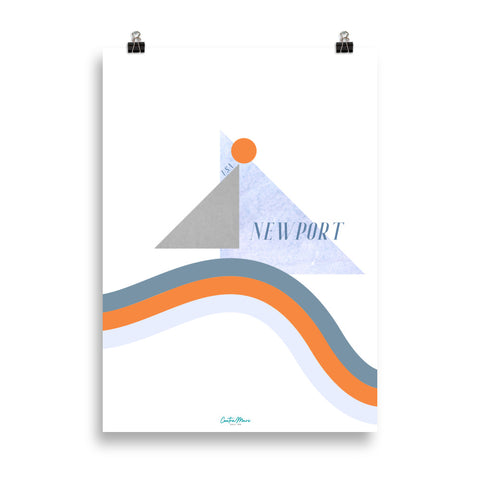 Newport Sailing Race Poster