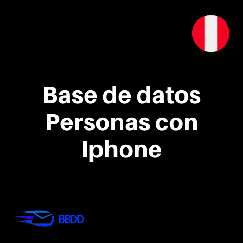 Base de datos Personas de Perú con IPHONE (45.000 contactos)