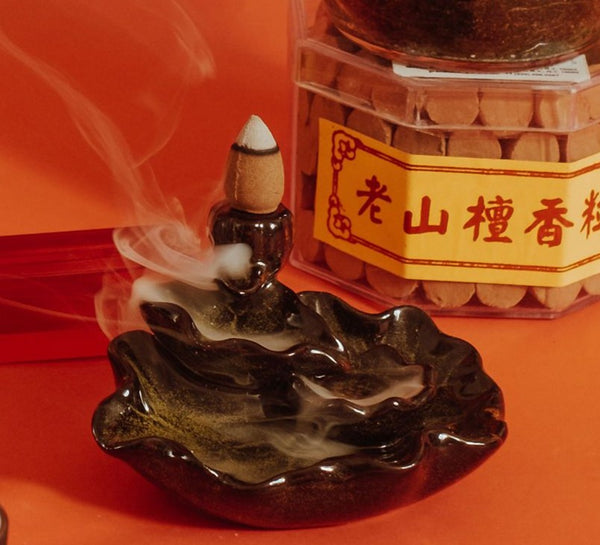 Agarwood Scented Backflow Cone Incense (沈香)