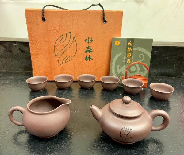 Purple Clay Teaset