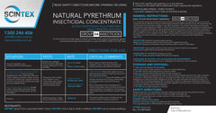 Natural Pyrethrum Concentrate Label