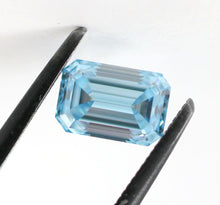 Load image into Gallery viewer, 1.03 CT Loose Natural Diamond Fancy Intense Green Blue VVS1 Emerald Cut Certified