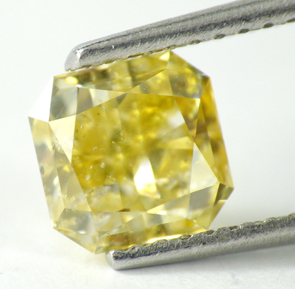 1.23 CT Loose 100% Natural Diamond Fancy Intense Yellow Radiant Cut IGL Certified