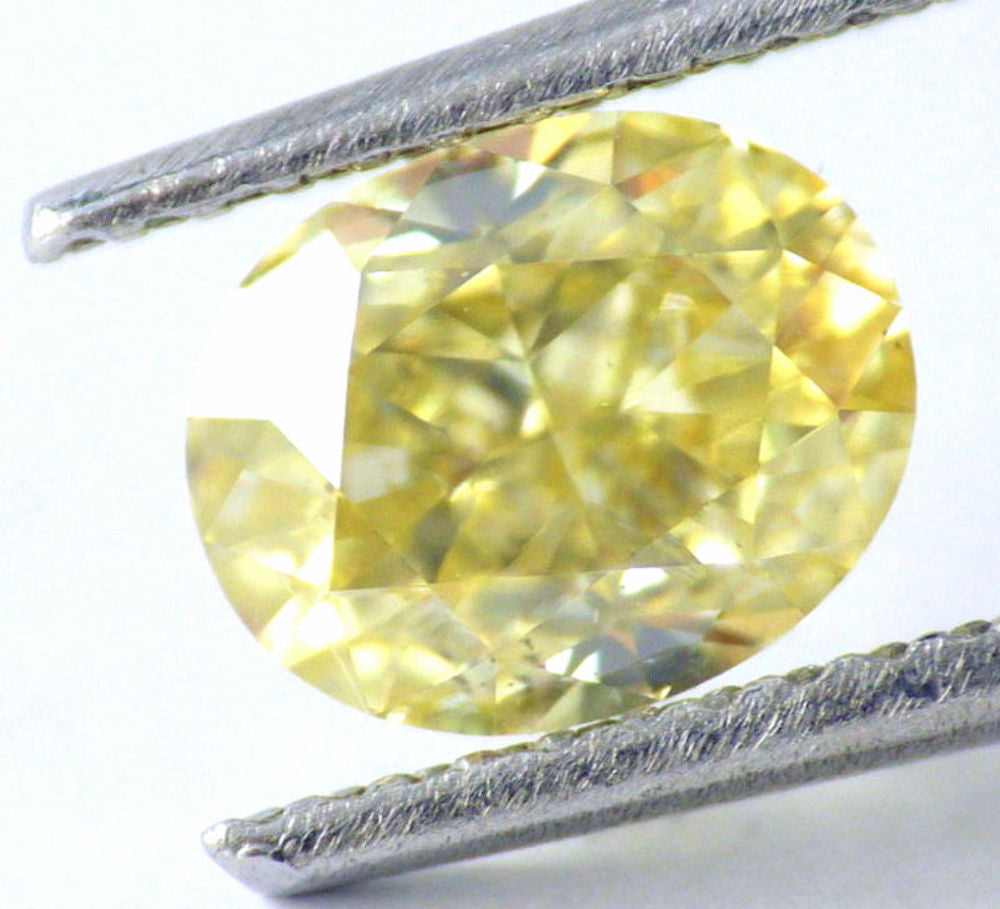 1.24 CT Loose 100% Natural Diamond Fancy Yellow SI1 Oval Brilliant Cut IGL Certified