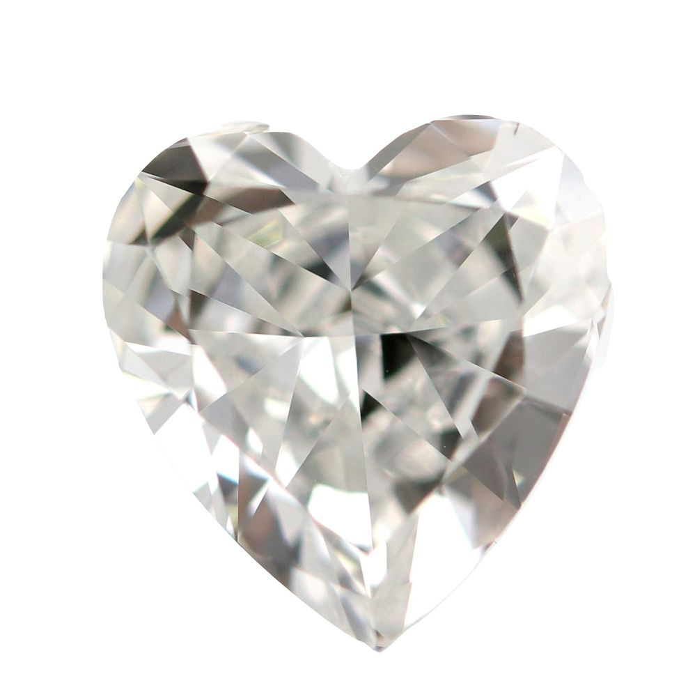 1.00 CT Loose Natural Diamond D Flawless Heart Brilliant Cut GIA Certified