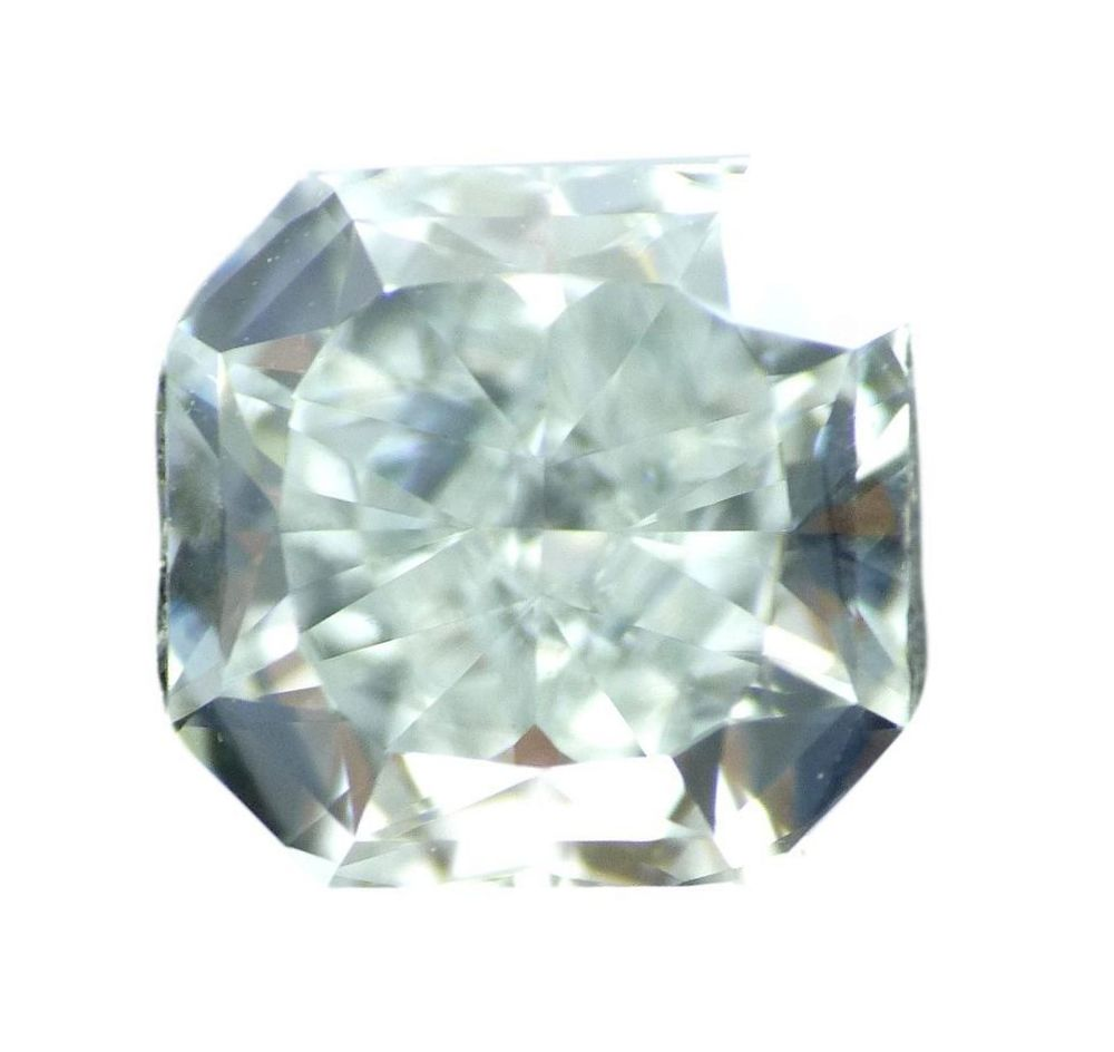 0.61 CT Loose 100% Natural Diamond Fancy Light Bluish Green VS1 Radiant Cut GIA Certified
