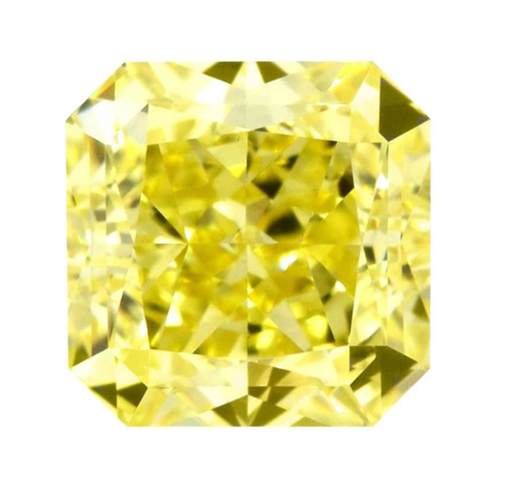 3.01 CT Loose Natural Diamond Fancy Intense Yellow VS2 Radiant Cut GIA Certified