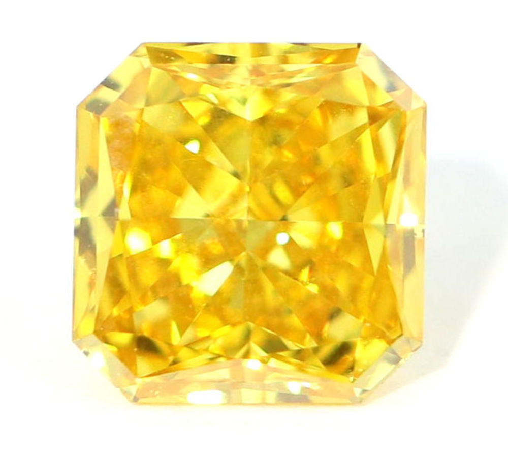 1.31 CT Loose Natural Diamond Fancy Orangy Yellow VS2 Radiant Cut GIA Certified