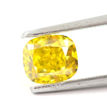 Load image into Gallery viewer, 1.00 CT Loose Natural Diamond Fancy vivid Yellow VVS2 Cushion Cut Certified