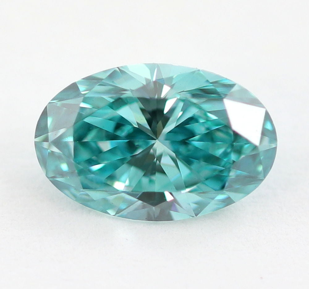 1.12 CT Loose Natural Diamond Fancy vivid Blue VS1 Oval Cut Brilliant Certified