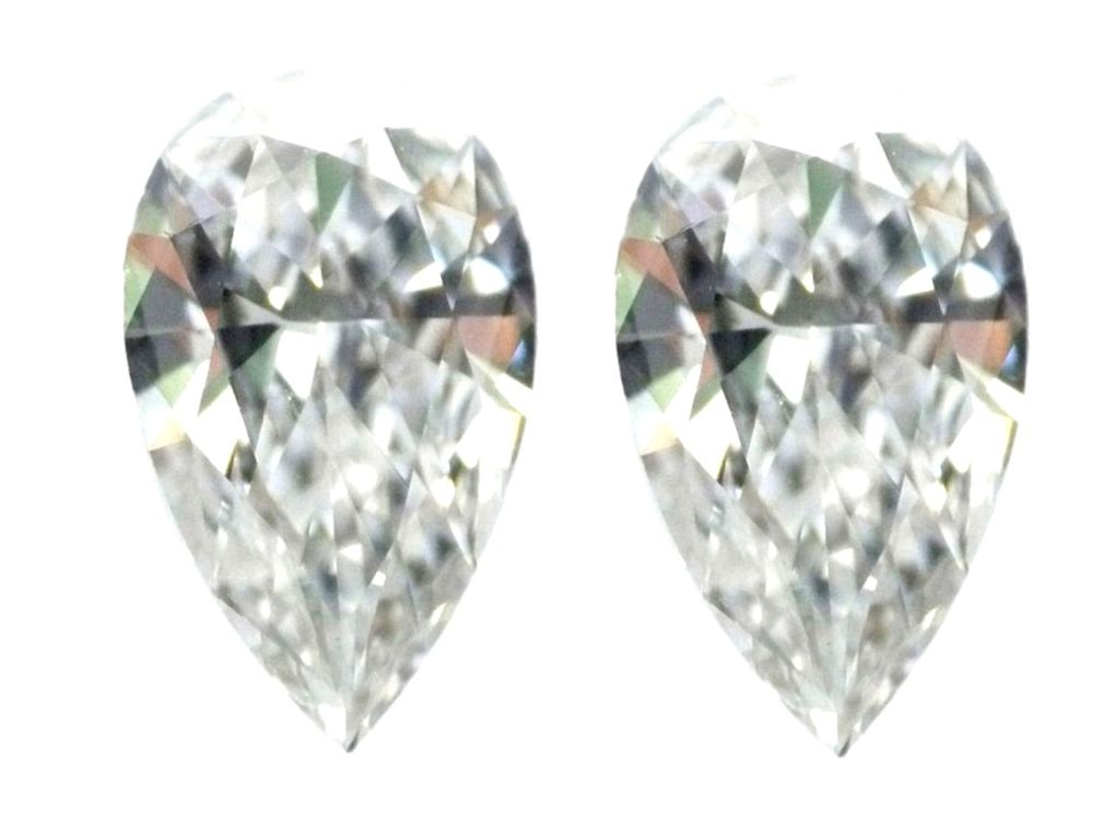 2.17 carat Loose Diamond Perfect Pair D Flawelss Pear Cut GIA Certified
