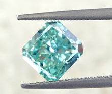 Load image into Gallery viewer, 2.01 CT Loose Natural Diamond Fancy Vivid Bluish Green VVS2 Radiant Cut GIA Certified
