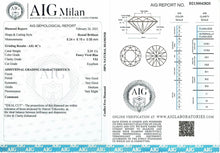 Load image into Gallery viewer, 2.19 CT Loose Natural Diamond Fancy Vivid Blue VS1 Round  Brilliant AIG Certified