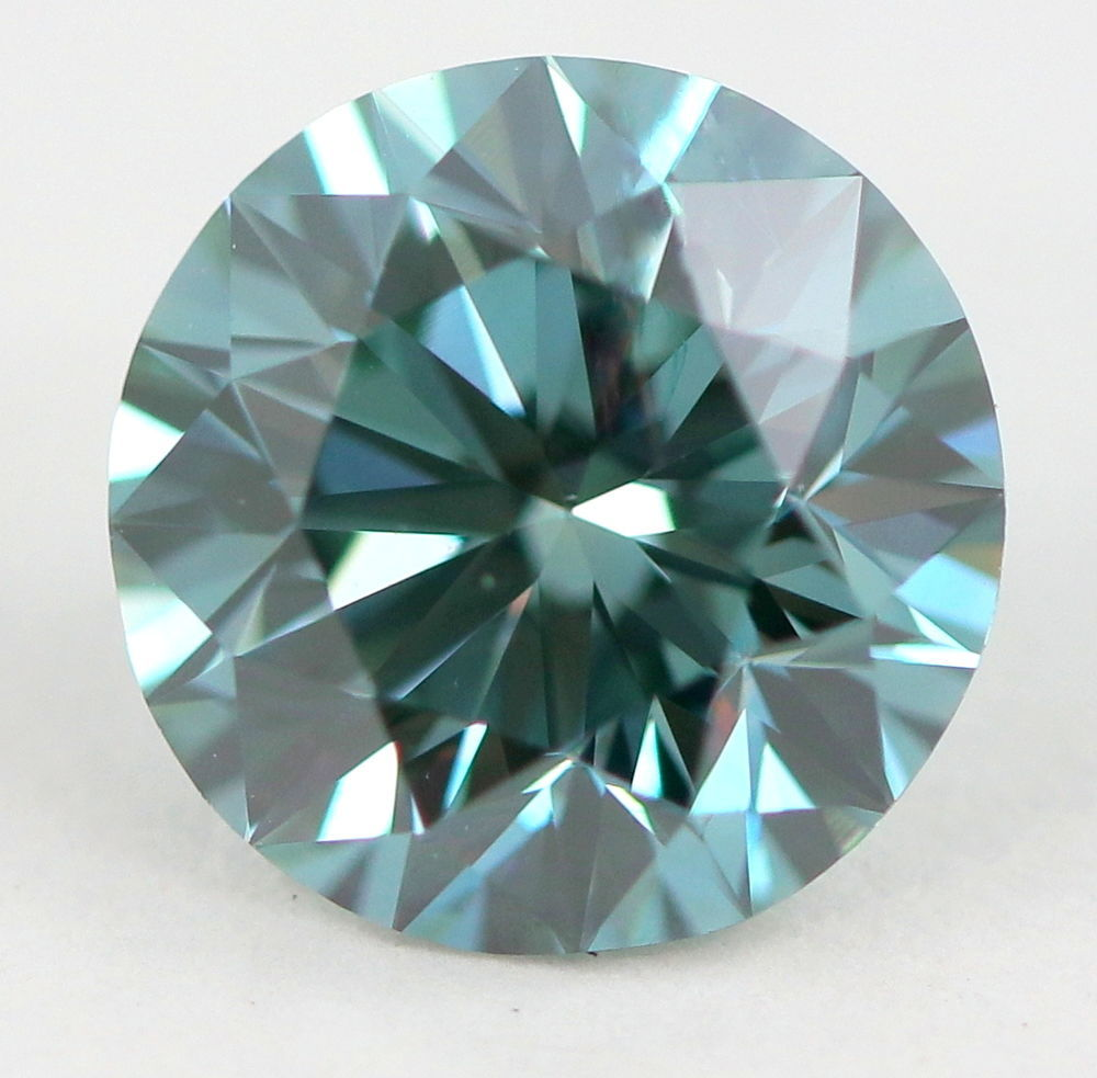 2.19 CT Loose Natural Diamond Fancy Vivid Blue VS1 Round  Brilliant AIG Certified