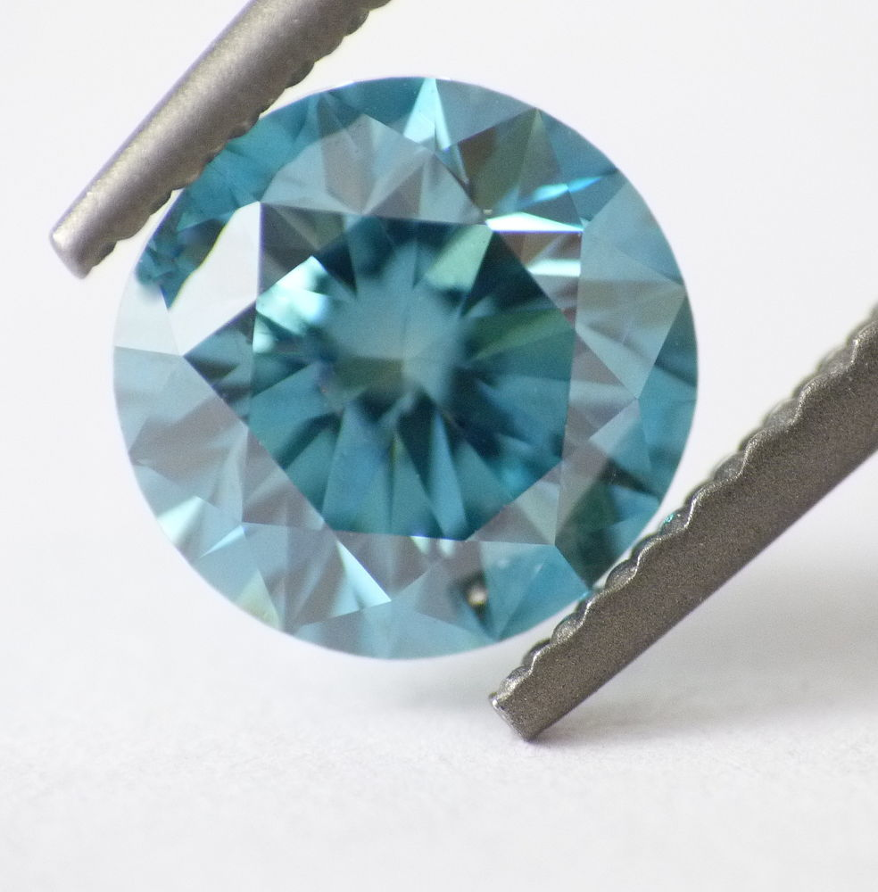 1.03 CT Loose Natural Diamond Fancy Vivid Blue VS1 Round Brilliant AIG Certified
