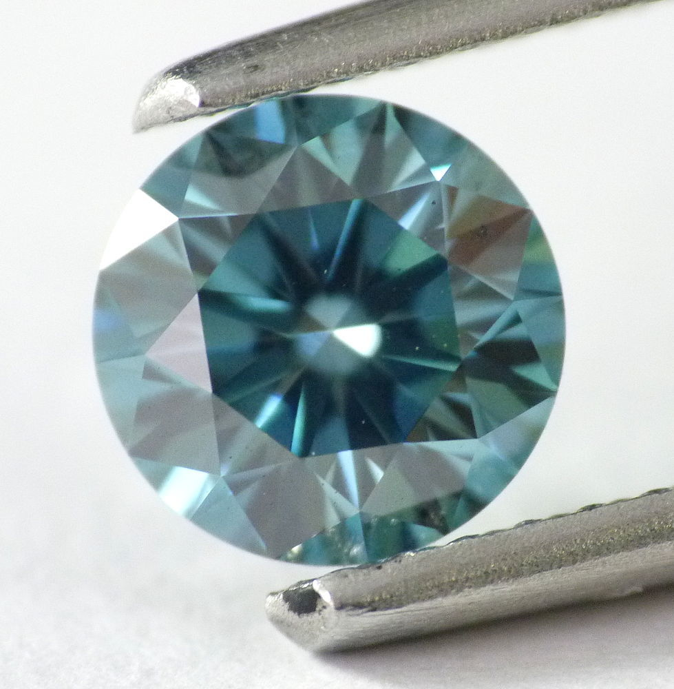 1.03 CT Loose Natural Diamond Fancy Vivid Blue VS2 Round Brilliant AIG Certified