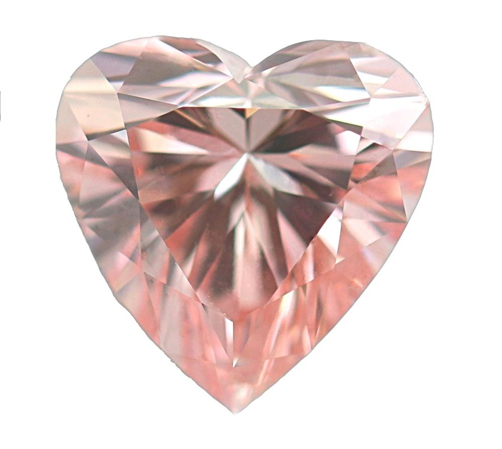 2.02 CT Loose Natural Diamond Fancy Intense Pink Heart Shape The LOVE Diamond
