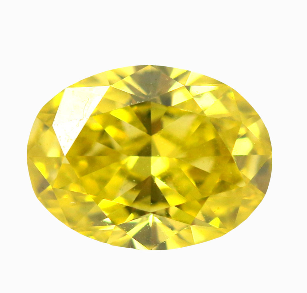 1.01 CT Loose Natural Diamond Fancy vivid Yellow Oval Cut VVS2 GIA Certified