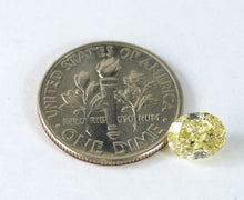 Load image into Gallery viewer, 1.24 CT Loose 100% Natural Diamond Fancy Yellow SI1 Oval Brilliant Cut IGL Certified